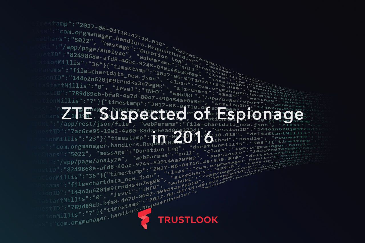 ZTE Suspected of Espionage in 2016