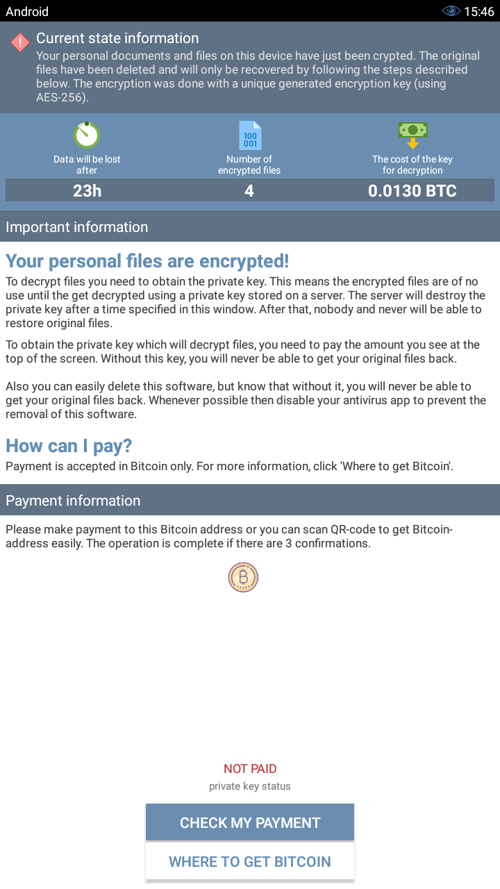 Android ransomware research